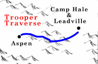 Trooper Traverse overview map, Colorado.