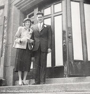 Charles Craig and Patricia Dawson, Community Church, Mountain Lakes New Jersey, 1950.